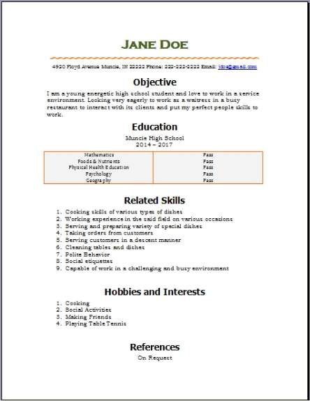 Free High School Resume2