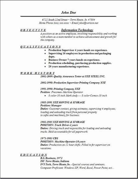 Information Technology Resume1