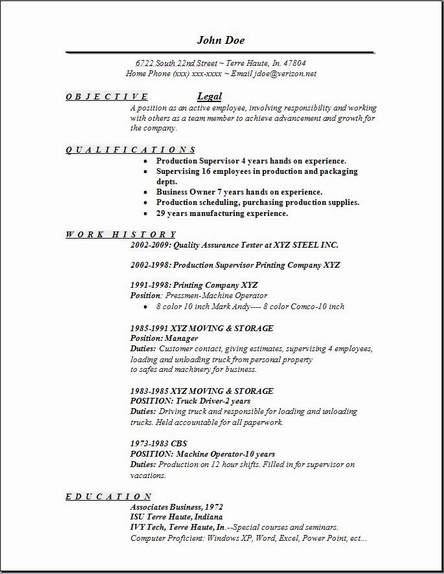 legal resume - Law Resume