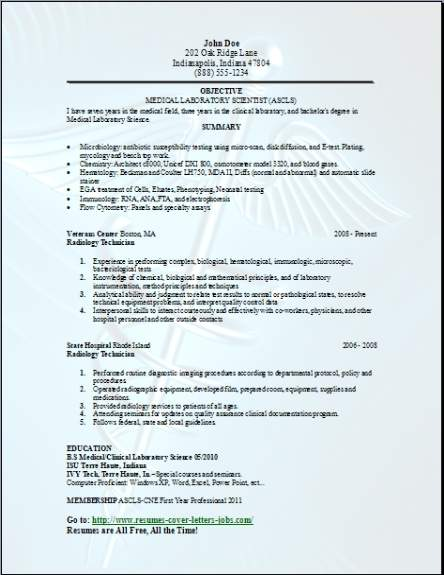 Medical Technical Resume3