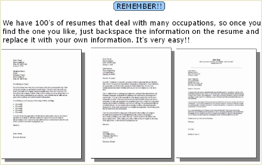 Resume Cover Letter Samples Over 100 Free Cover Letter Examples