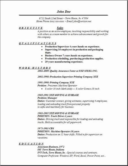 Sales Resume Occupational Examples Samples Free Edit With Word