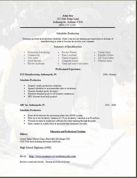 Scheduler Resume, Occupational:examples,samples Free edit ...