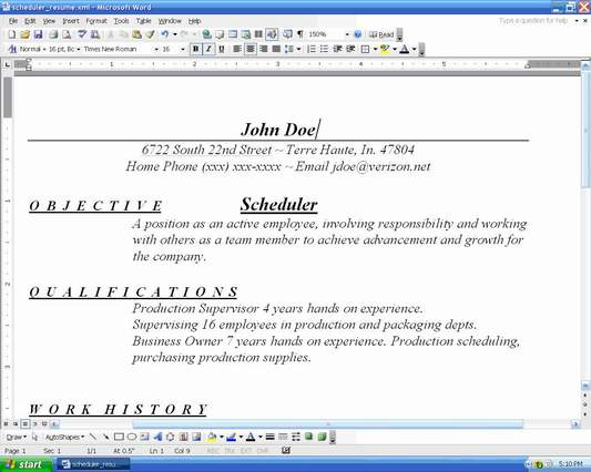 How To Organize Resumes  How To Organize A Resume