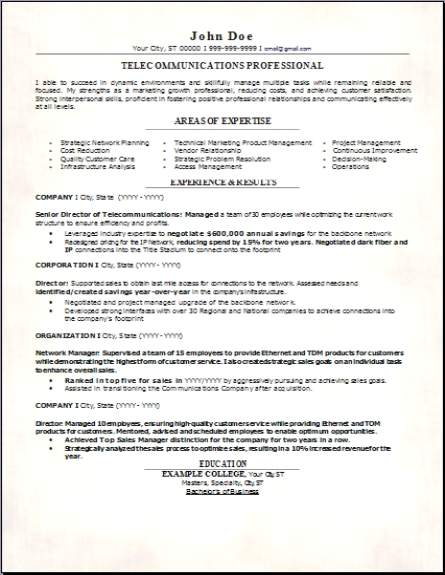 Telecommunications Technician Cover Letter