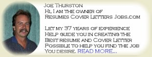 Joe Thurston-Owner of Resumes Cover Letters Jobs.com