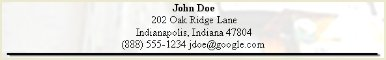 Job Resume Contact Details