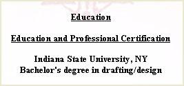 Job Resume Education Details