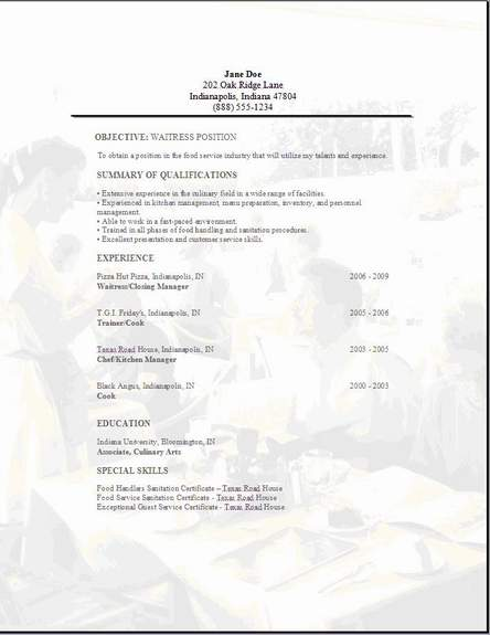free edit in word resume templates  examples  samples